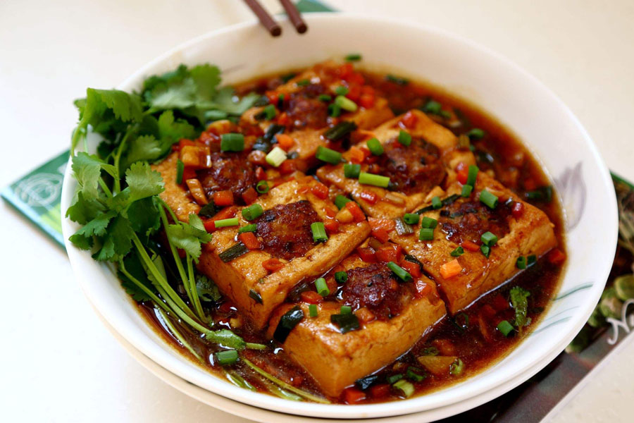 """""""在哪学习广东客家酿豆腐的做法?"""""""